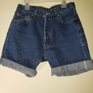 LEVI'S Button Fly R Tag Denim Jean Shorts Size 27
